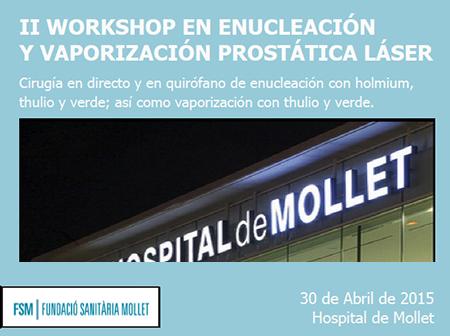 II Workshop en enucleación y vaporización prostática